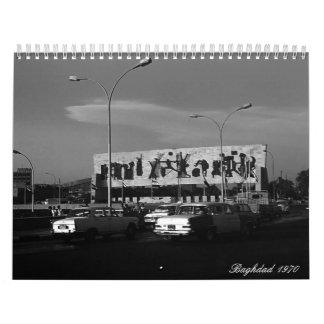 Vintage Iraq baghdad 1970 Wall Calendars