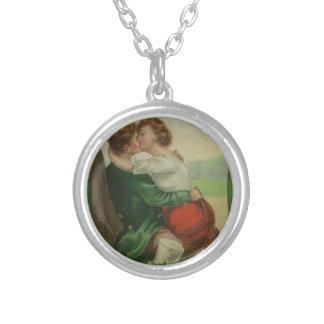 Vintage Ireland Irish Romance St. Patrick's Day Silver Plated Necklace