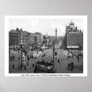 Vintage Ireland, O'Connell Bridge Dublin Poster