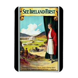 Vintage Ireland Travel Poster Magnet
