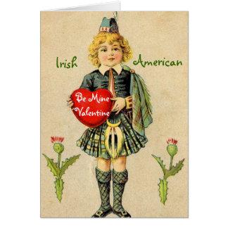 Vintage Irish American Valentine's Day Card