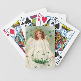 Vintage Irish Angel playing cards