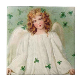 Vintage Irish Angel tile