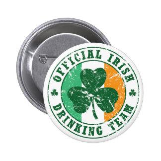 'Vintage' Irish Drinking Team 6 Cm Round Badge