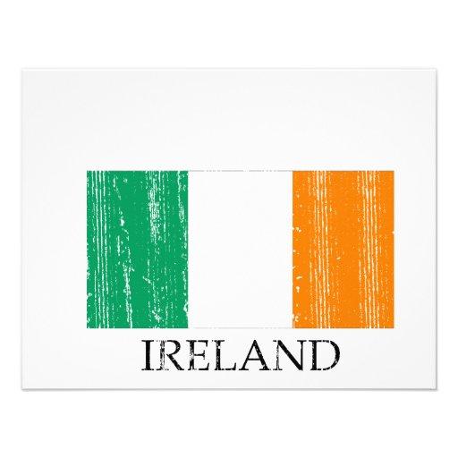 Vintage Irish Flag Custom Announcements