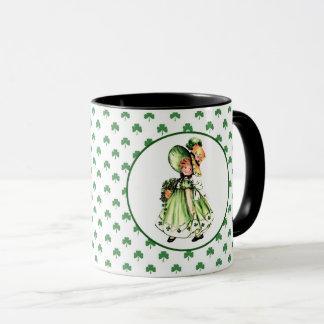 Vintage Irish Girl St. Patrick's Day Gift Mugs