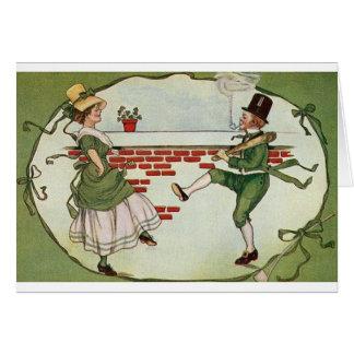 Vintage Irish Jig St. Patrick's Day Card