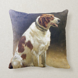 Vintage Irish Setter Painting Throw Pillow