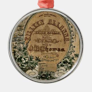 Vintage Irish Sheet Music Ornament