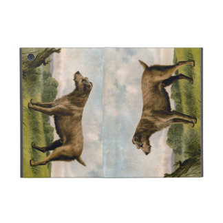 Vintage Irish Terrier on country landscape Case For iPad Mini