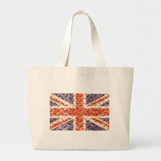 Vintage Iron Texture Union Jack British UK Flag Bag