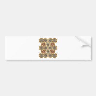 Vintage Islamic Pattern Design Bumper Stickers
