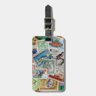 Vintage Island Stamps Bag Tag