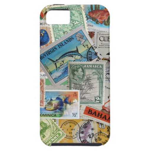 Vintage Island Stamps iPhone Case Case For iPhone 5/5S