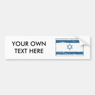 Vintage Israel Flag Bumper Sticker