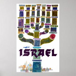 Vintage Israel Travel Poster