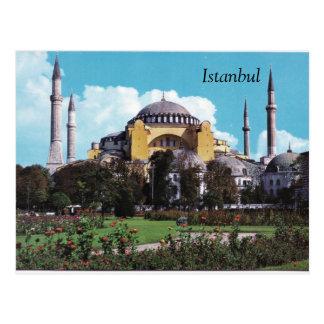 Vintage Istanbul postcard design