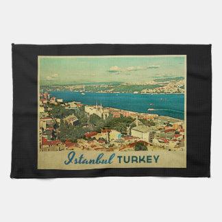 Vintage Istanbul Turkey Tea Towels