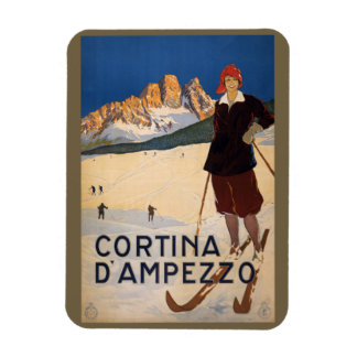 Vintage Italian Alps Italy magnet