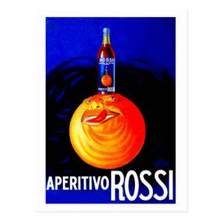 Vintage Italian aperitivo advertising Postcard
