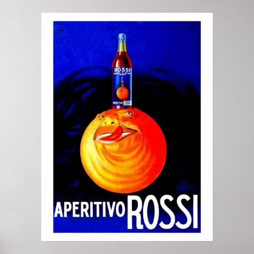 Vintage Italian aperitivo advertising Poster