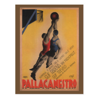Vintage Italian Basketball Postcard