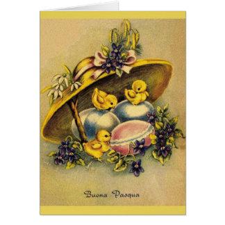 Vintage Italian Buona Pasqua Easter Card