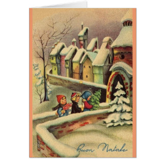 Vintage Italian Christmas Greeting Card