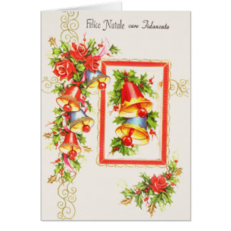 Vintage Italian Fiance Christmas Greeting Card