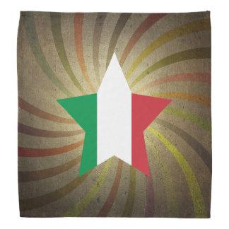 Vintage Italian Flag Swirl Bandana