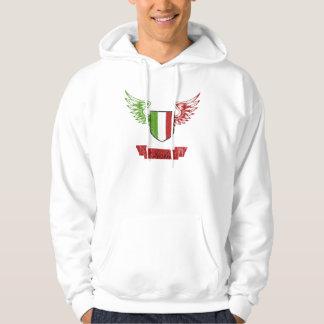 Vintage Italian Flag Wings Hooded Sweatshirt