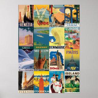 Vintage Italian Poster-Travel Europe