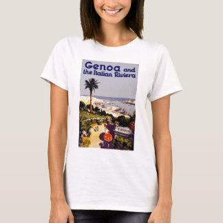 Vintage Italian Tourism Poster of Genoa T-Shirt