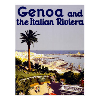 Vintage Italian Tourism Poster Scene Postcard