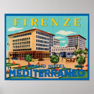 Vintage Italian Travel Advertisement Print