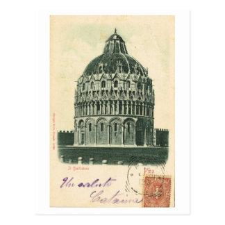 Vintage Italy, 1901, Pisa, Duomo, Baptistry Postcard