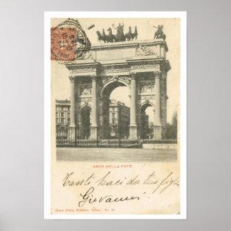 Vintage Italy Arco della Pace Milano Print