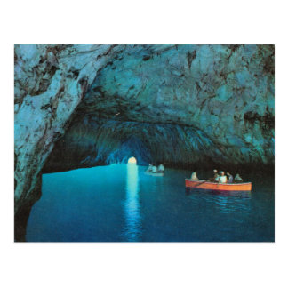 Vintage Italy,  Capri, Blue Grotto Postcard