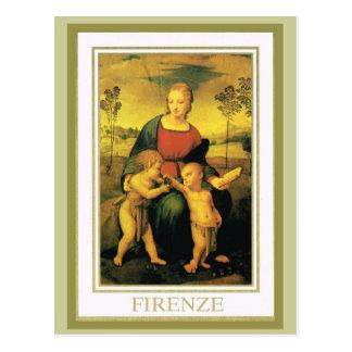 Vintage Italy,  Firenze, Uffizi Gallery Postcard