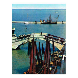Vintage Italy, Fishing boats, Chioggia, Italy Postcard