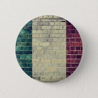 Vintage Italy flag 6 Cm Round Badge