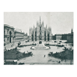 Vintage, Italy Milan, Cathedral, Duomo Postcard