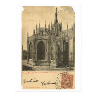 Vintage Italy, Milano, Duomo 1900 Postcard