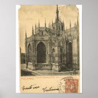 Vintage Italy, Milano, Duomo Print