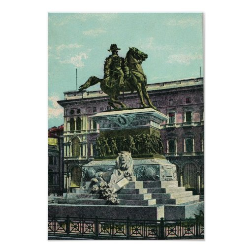 Vintage Italy, Milano Vittorio Emmanuelle II Print