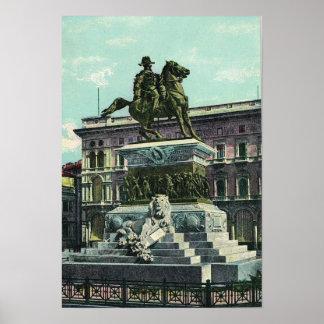 Vintage Italy Milano Vittorio Emmanuelle II Print