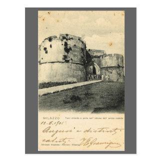 Vintage Italy, Milazzo, 1905 Postcard