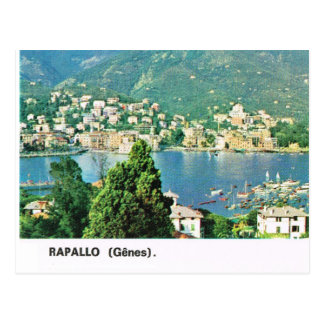 Vintage Italy,   Rapallo, Waterfront and town Postcard