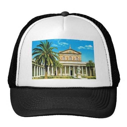 Vintage Italy,  Rome, S Paulo fuori les mura Trucker Hat