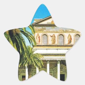 Vintage Italy,  Rome, S Paulo fuori les mura Star Sticker
